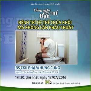 benh tri co the chua khoi ma khong can phau thuat